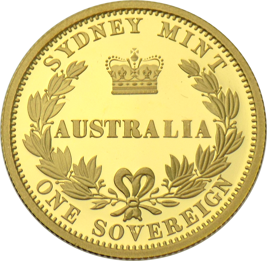 Pre-Owned 2005 Australian Sydney Mint Full Sovereign Proof Design Gold Coin