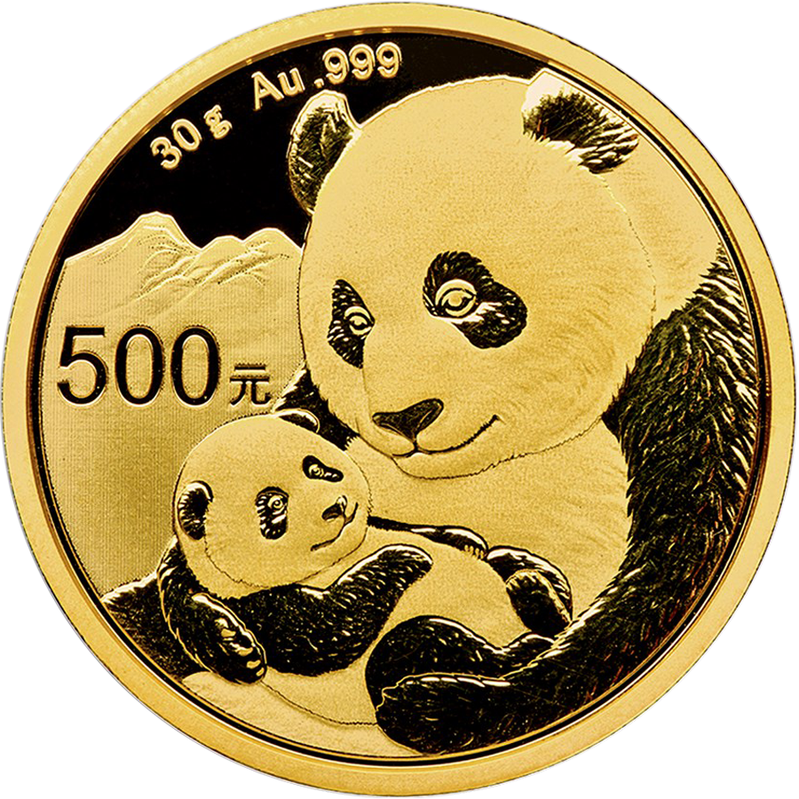 2019 Chinese Panda 30g Gold Coin