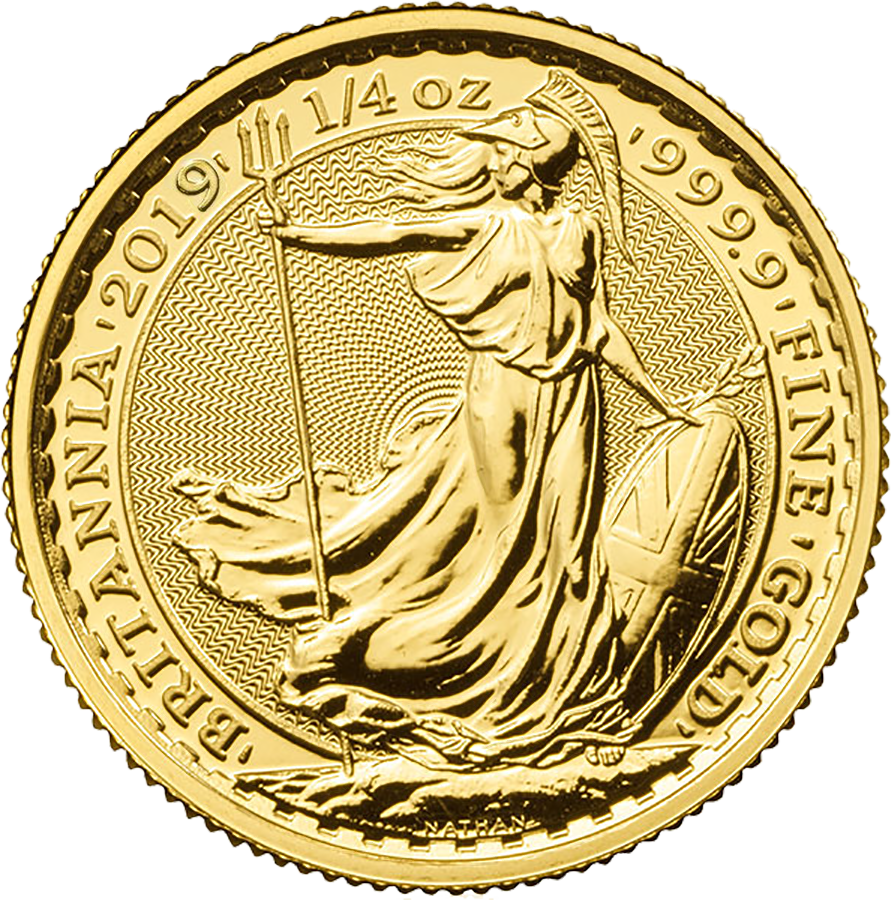2019 UK Britannia 1/4oz Gold Coin