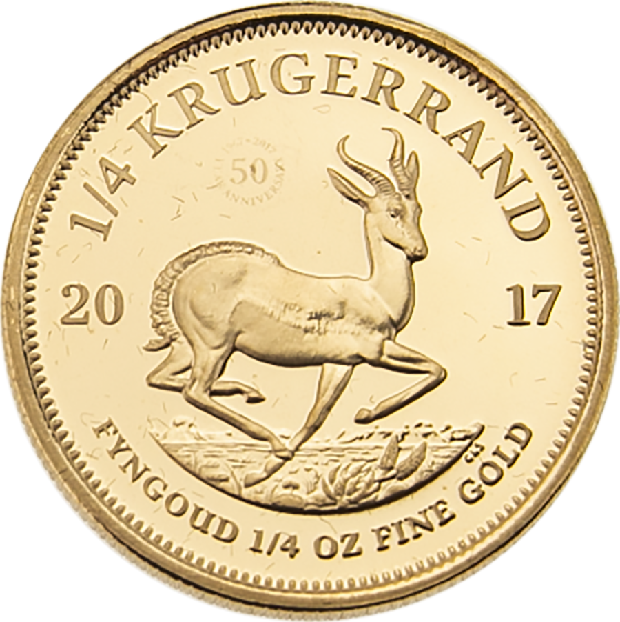 Pre-Owned 2017 South African Krugerrand 1/4oz Gold Proof Coin (Image 2)