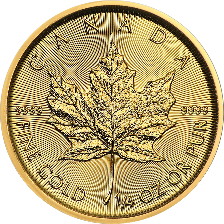 2019 Canadian Maple 1/4oz Gold Coin