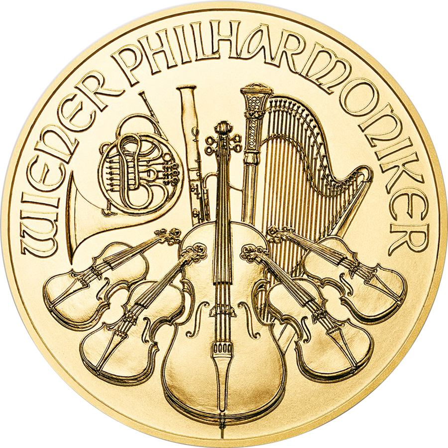 2019 Austrian Philharmonic 1oz Gold Coin