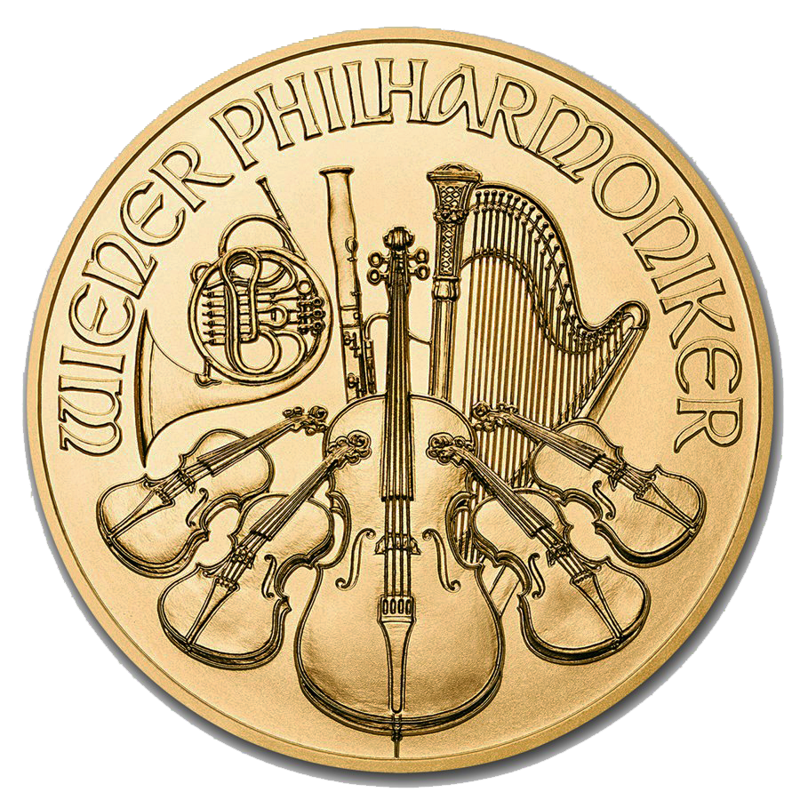 2019 Austrian Philharmonic 1/4oz Gold Coin