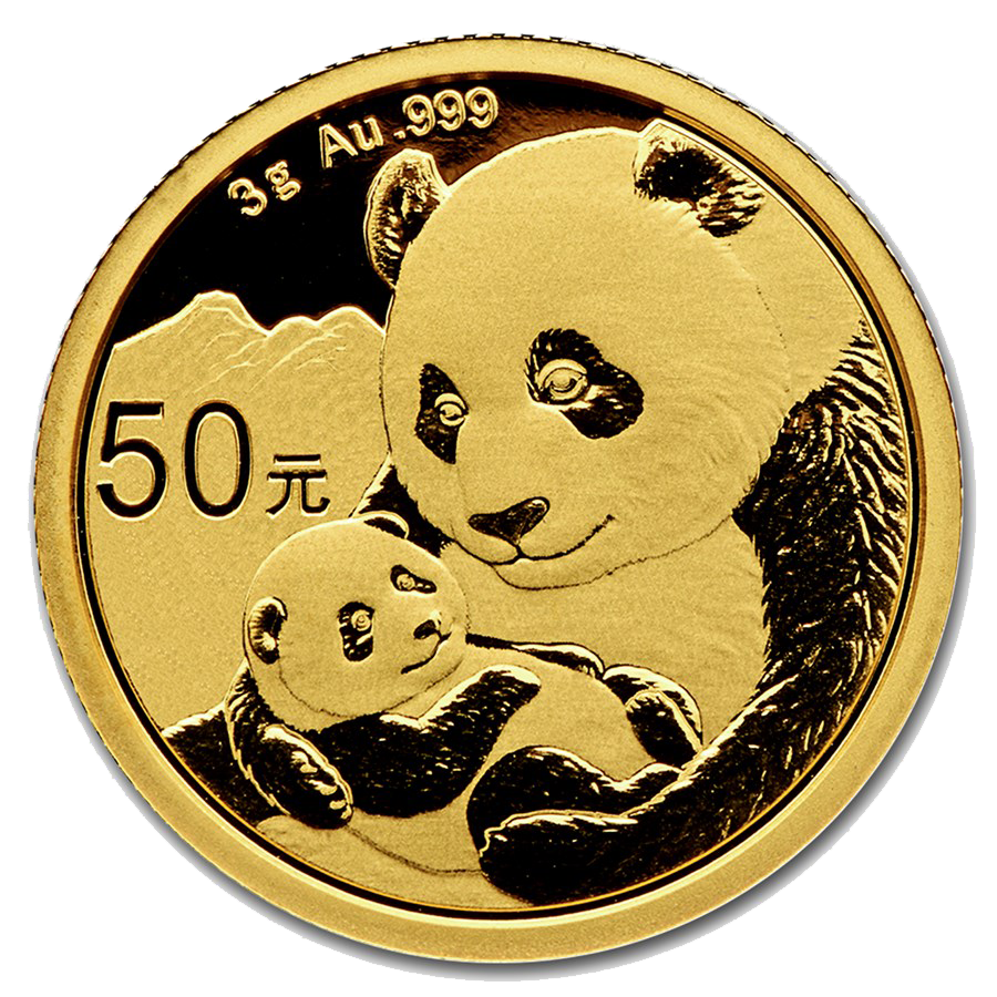2019 Chinese Panda 3g Gold Coin
