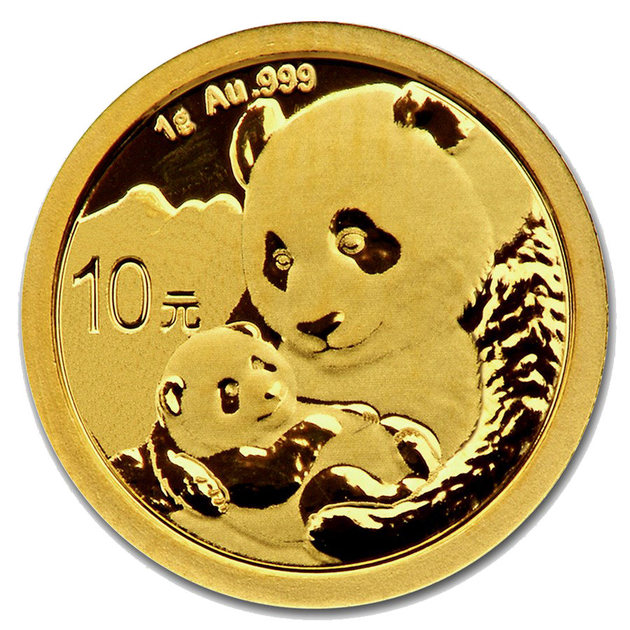 2019 Chinese Panda 1g Gold Coin