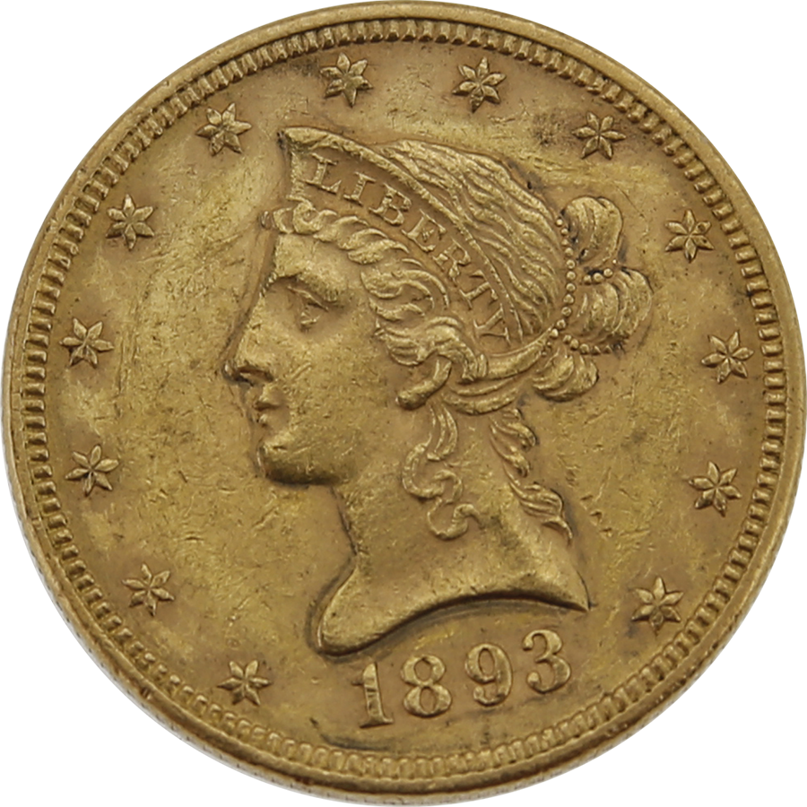 Pre Owned 1893 Usa 10 Eagle Gold Coin Gold Coins Online