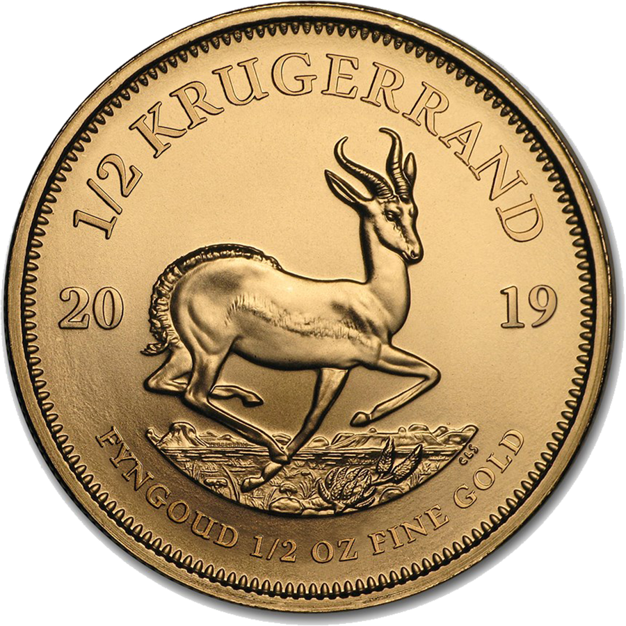 2019 South African Krugerrand 1/2oz Gold Coin