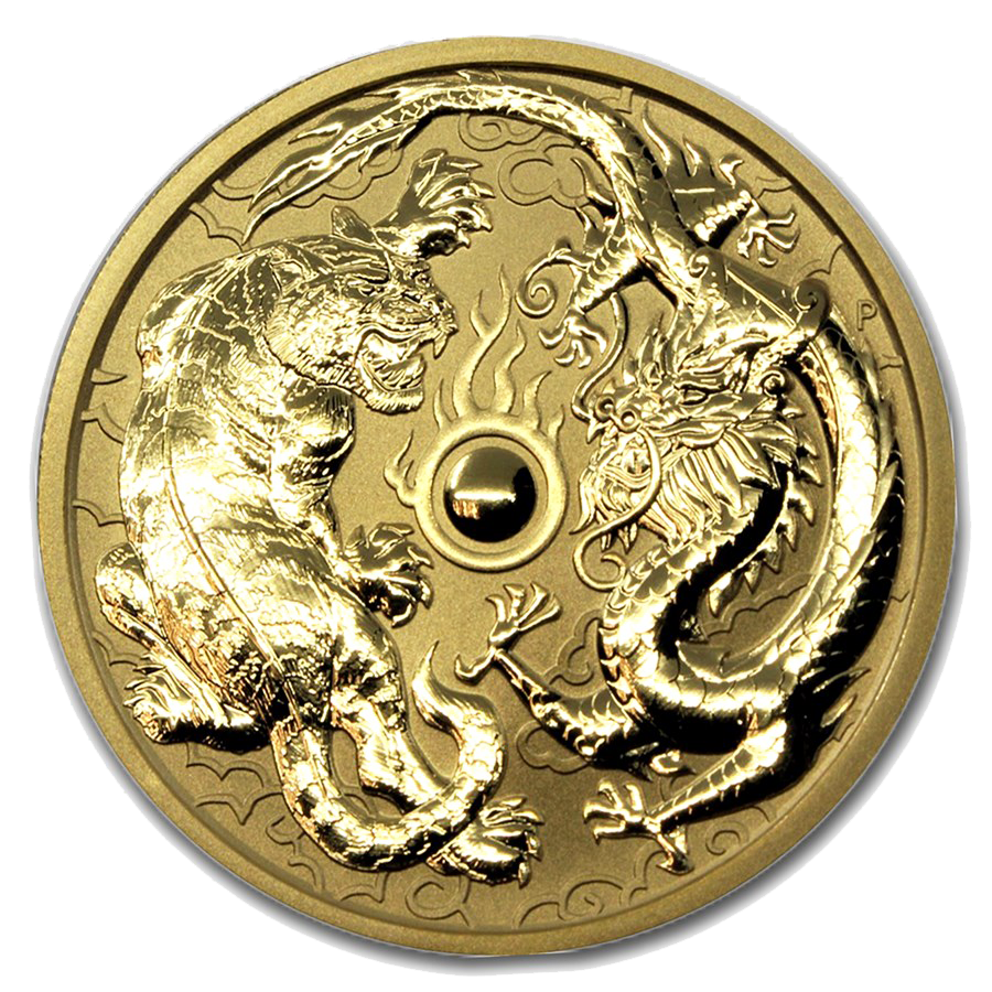 2019 Australian Dragon & Tiger 1oz Gold Coin