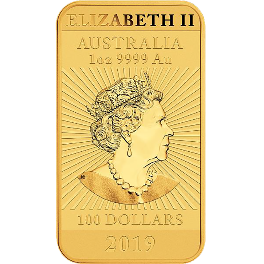 2019 Australian Dragon Rectangular 1oz Gold Coin (Image 2)