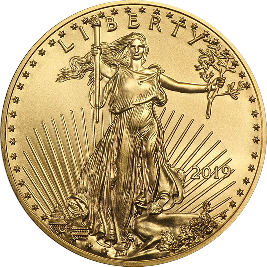 2019 USA Eagle 1oz Gold Coin (Image 1)