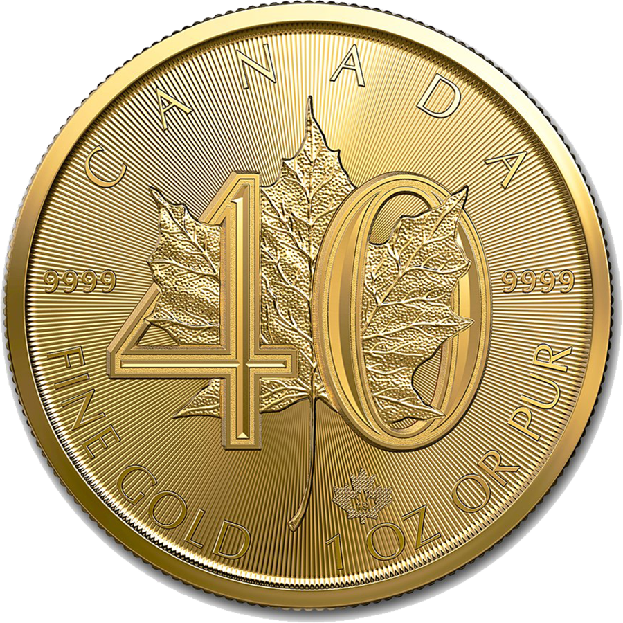 2019 Canadian Maple 40th Anniversary 1oz Gold Coin