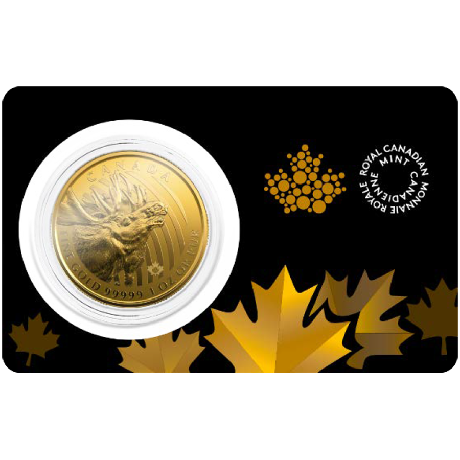 2019 Canadian Moose 1oz Gold Coin (Image 1)