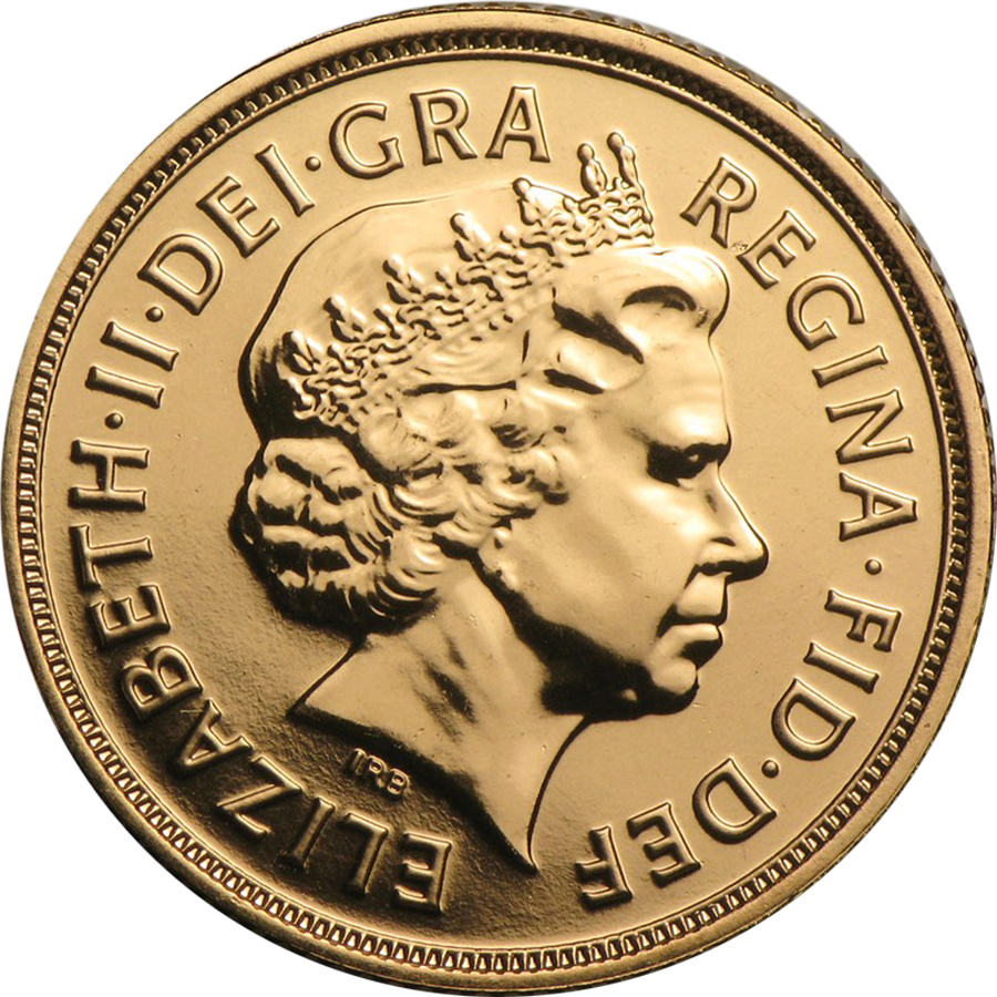 Pre-Owned Elizabeth II Fourth Portrait Full Sovereign Gold Coin - Mixed Dates