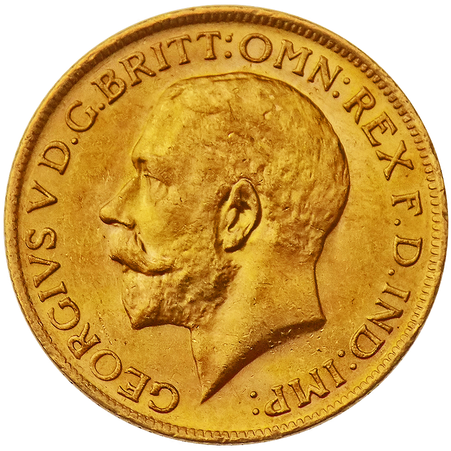Pre-Owned UK George V Full Sovereign Gold Coin - Mixed Dates (Image 1)