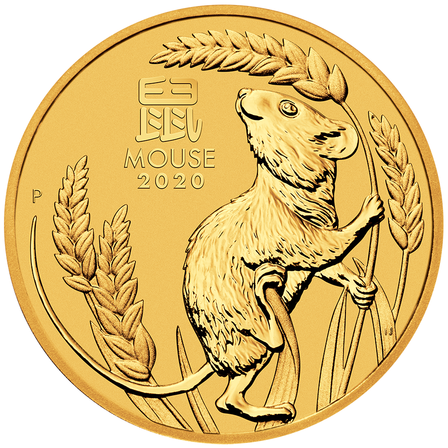 2020 Australian Lunar Mouse 1/4oz Gold Coin
