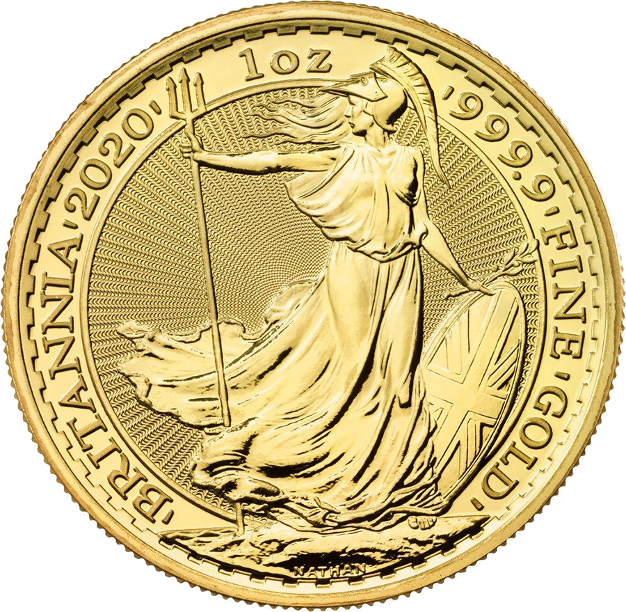2020 UK Britannia 1oz Gold Coin (Image 1)