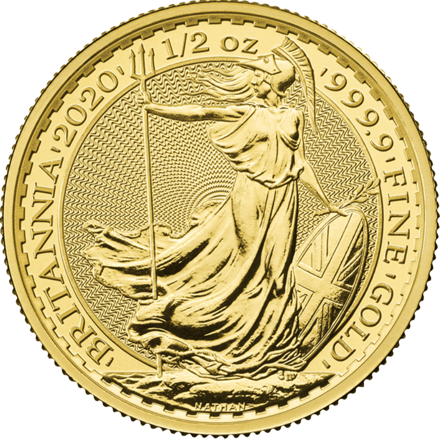 2020 UK Britannia 1/2oz Gold Coin