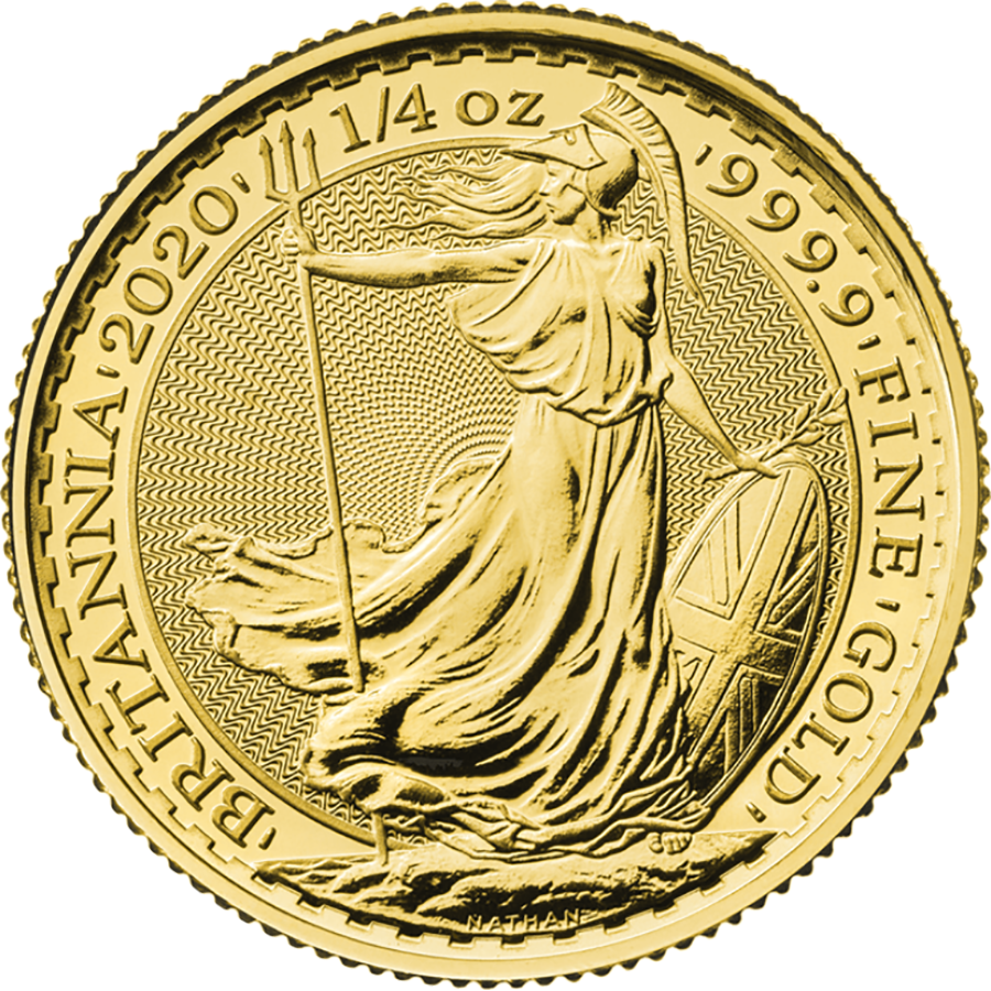 2020 UK Britannia 1/4oz Gold Coin