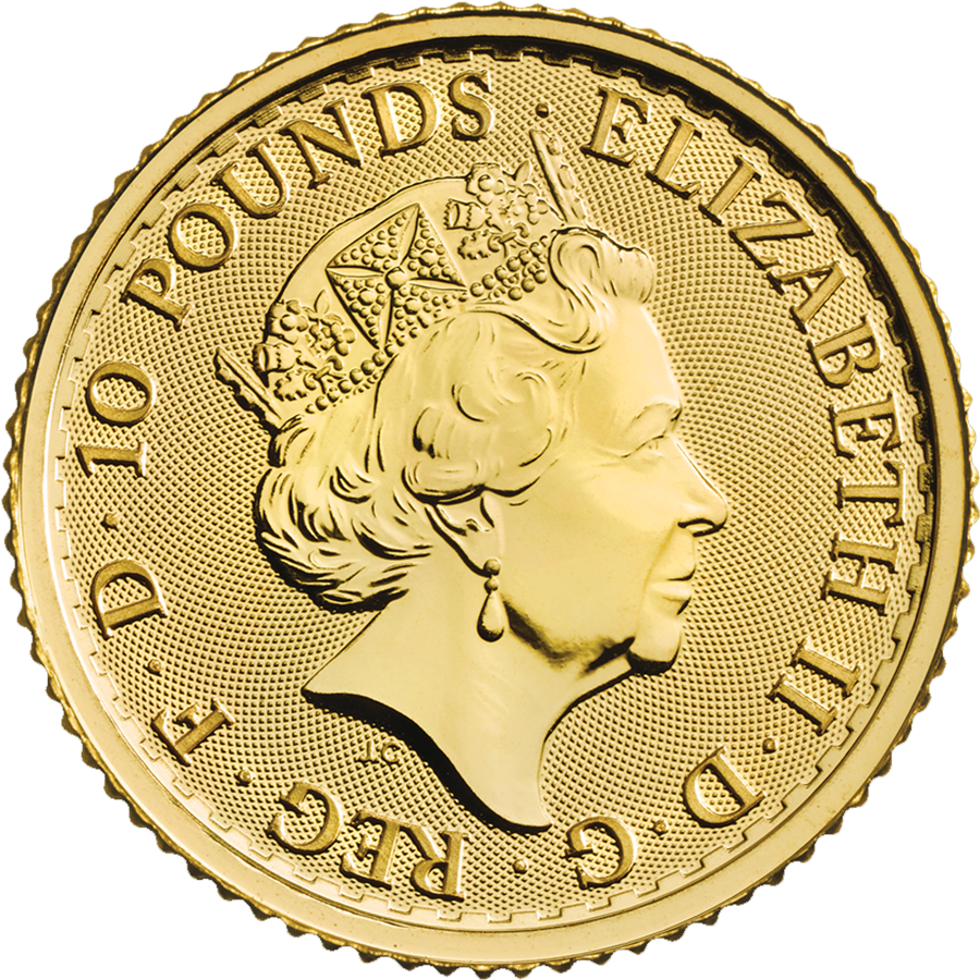 2020 UK Britannia 1/10oz Gold Coin (Image 2)