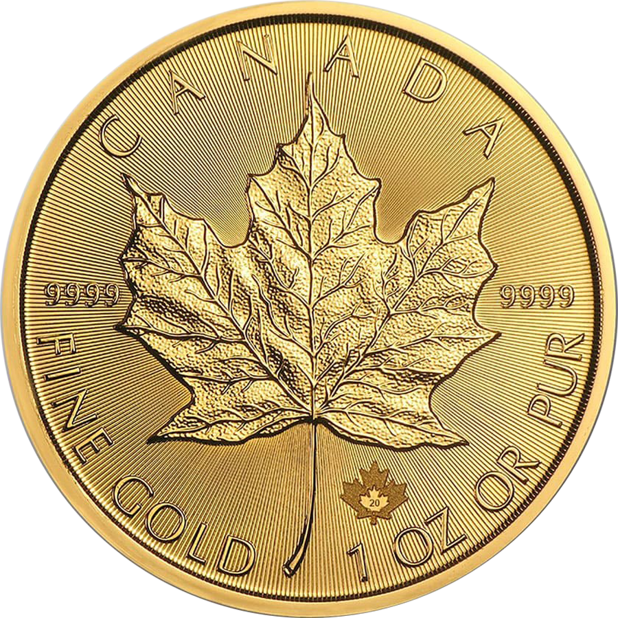 2020 Canadian Maple 1oz Gold Coin