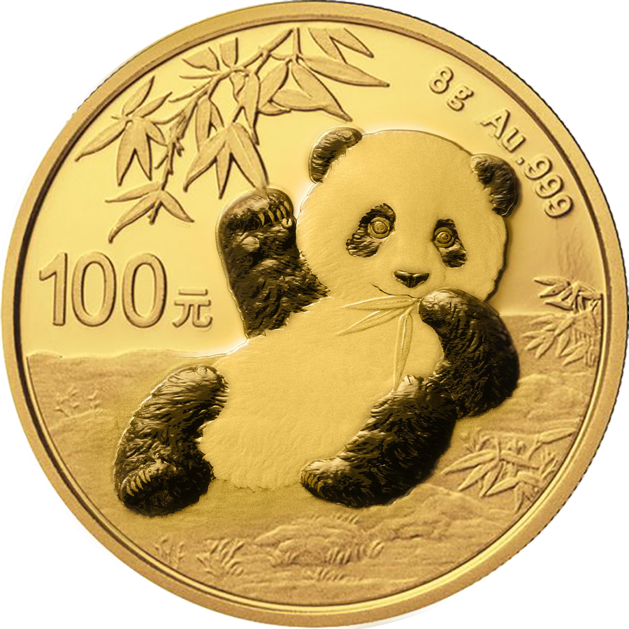 2020 Chinese Panda 8g Gold Coin