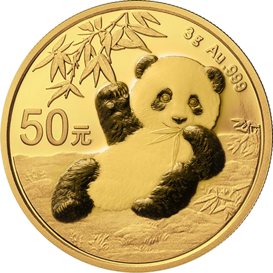 2020 Chinese Panda 3g Gold Coin