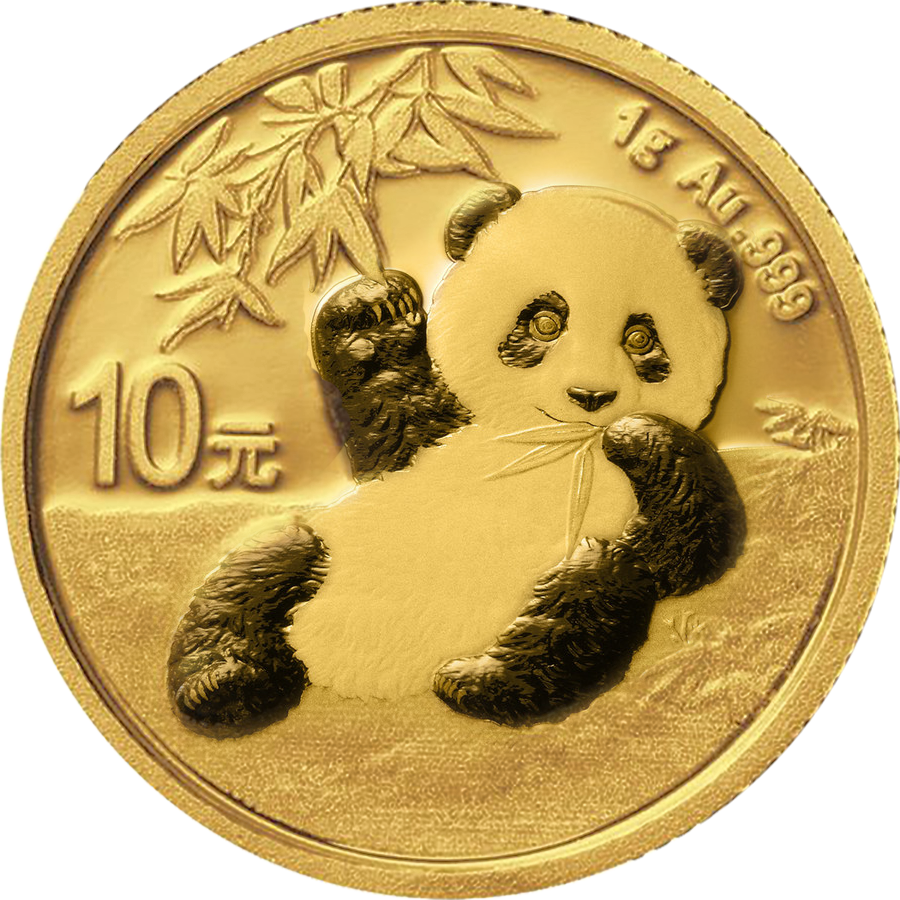 2020 Chinese Panda 1g Gold Coin