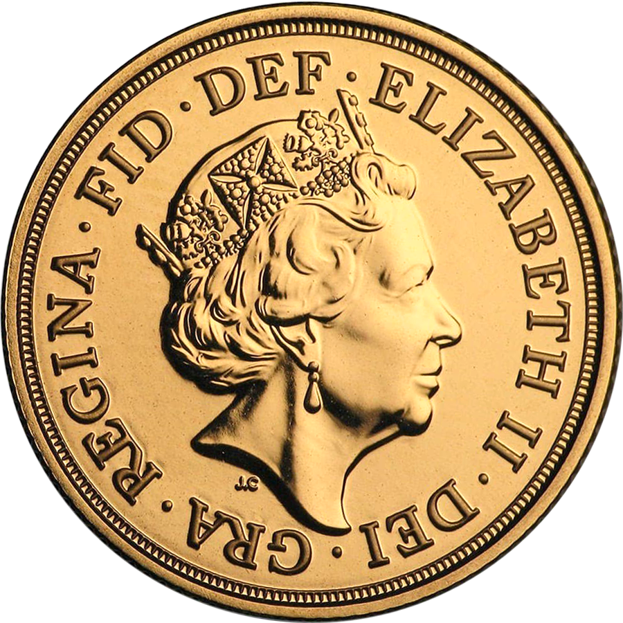 2020 UK Half Sovereign Gold Coin (Image 2)