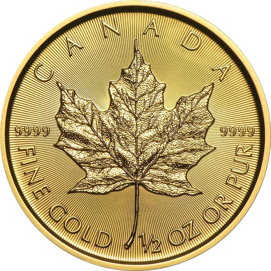 2020 Canadian Maple 1/2oz Gold Coin