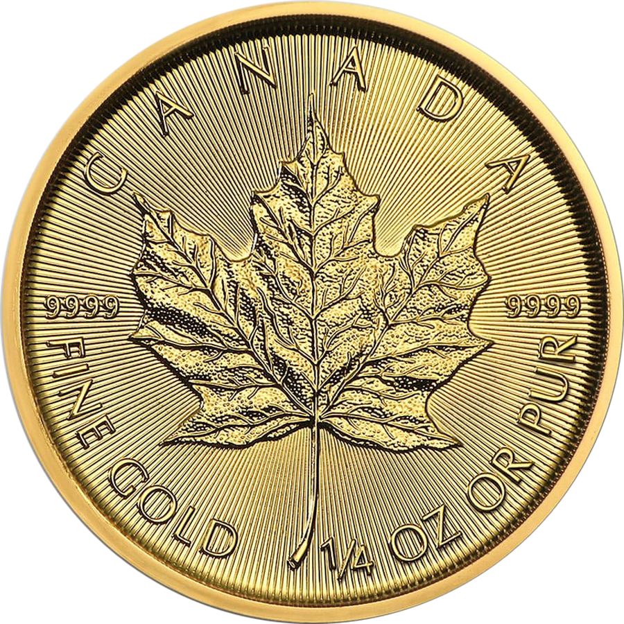 2020 Canadian Maple 1/4oz Gold Coin