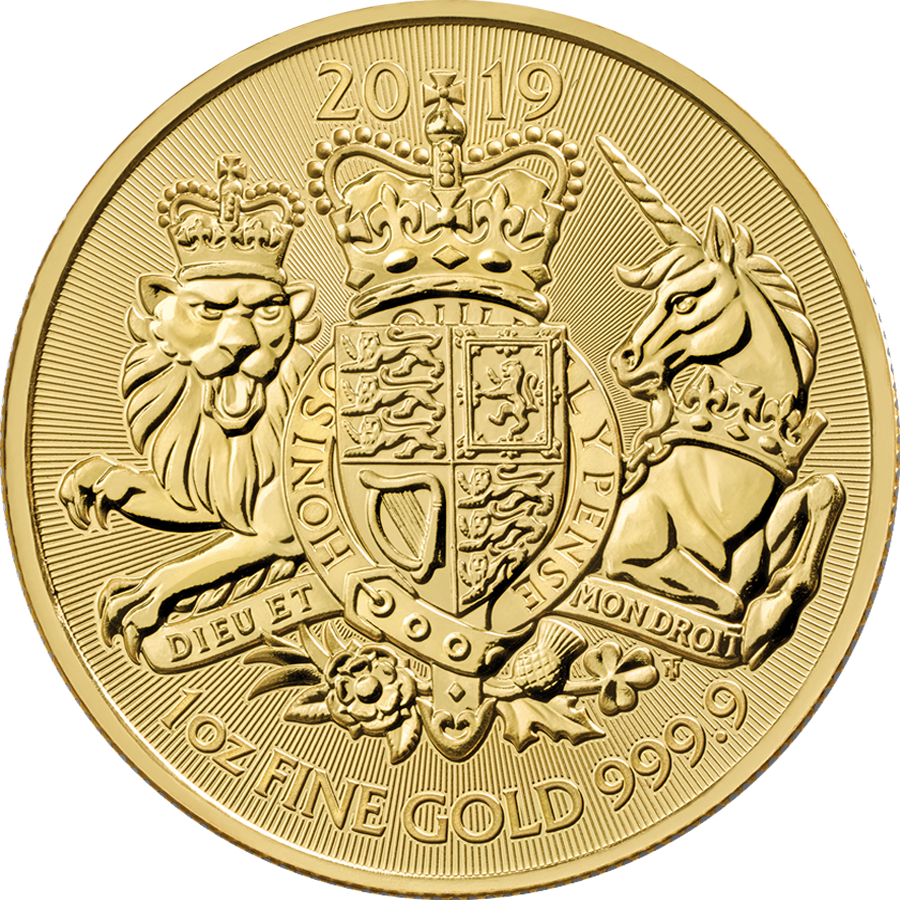 Pre-Owned 2019 UK Coat of Arms 1oz Gold Coin