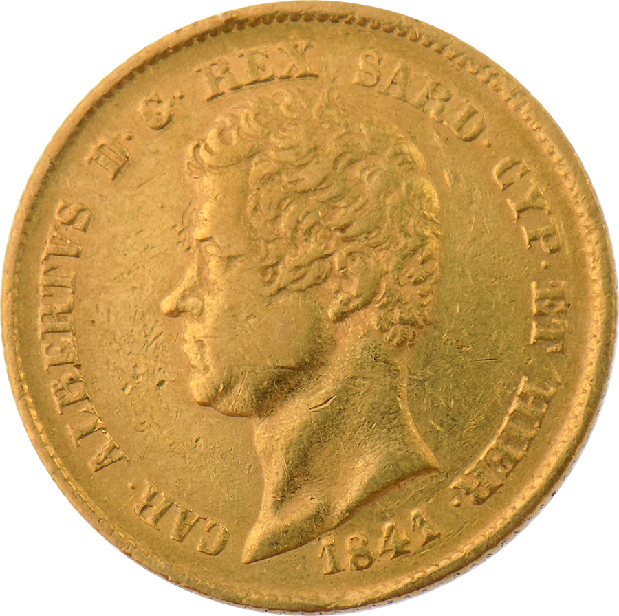 Pre-Owned 1841 Kingdom of Sardinia 20 Lira Gold Coin (Image 1)