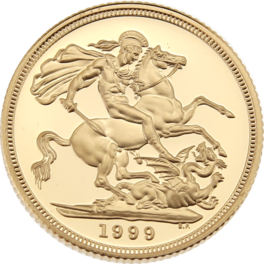 Pre-Owned 1999 UK Full Sovereign Proof Gold Coin (Image 2)