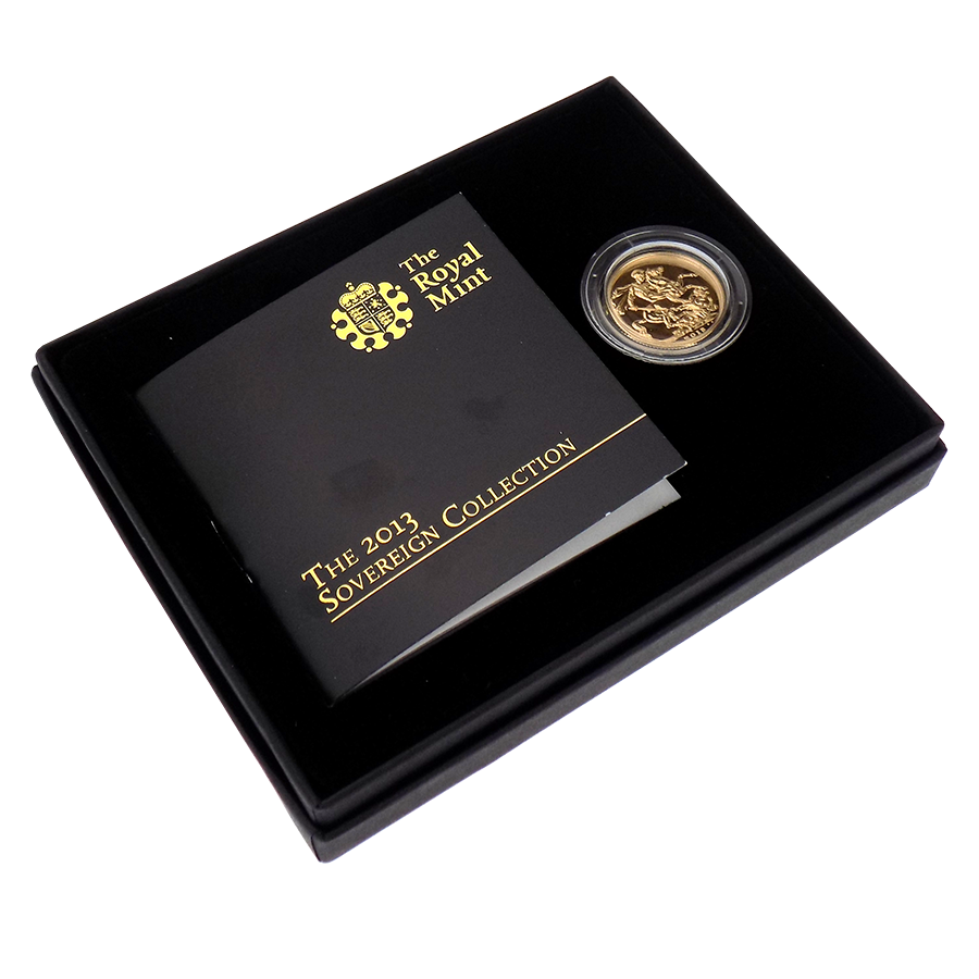 Pre-Owned 2013 UK 60th Coronation Anniversary Brilliant Uncirculated Boxed Full Sovereign Gold Coin