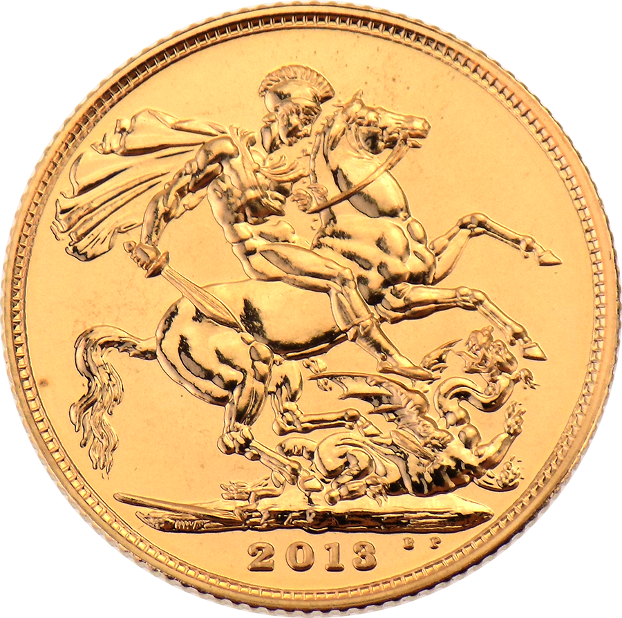 Pre-Owned 2013 UK 60th Coronation Anniversary Brilliant Uncirculated Boxed Full Sovereign Gold Coin (Image 2)