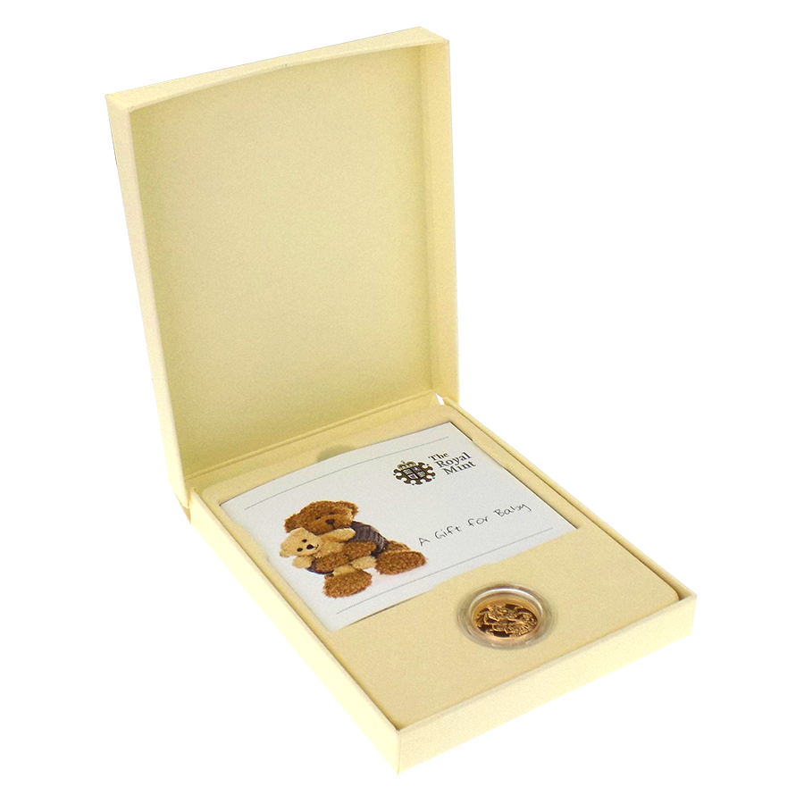 Pre-Owned 2011 UK 'A Gift for Baby' Full Sovereign Boxed Gold Coin