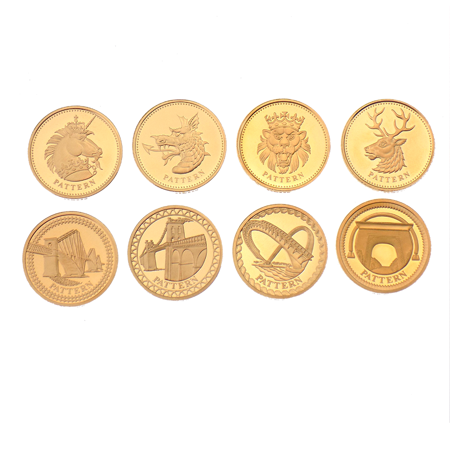 Pre-owned 2003 - 2004 UK Bridges and Heraldic Beasts Gold Proof £1 Pattern 8 Coin Collection (Image 2)