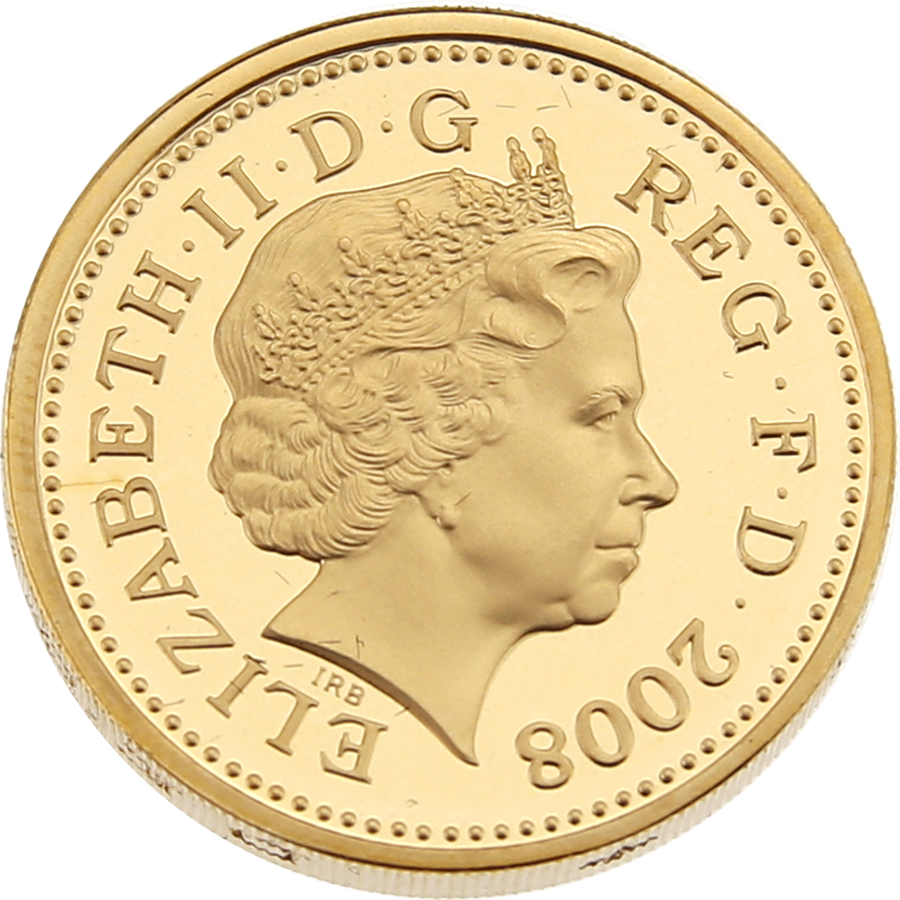 Pre-Owned 2008 UK Royal Arms £1 Gold Proof Coin (Image 3)