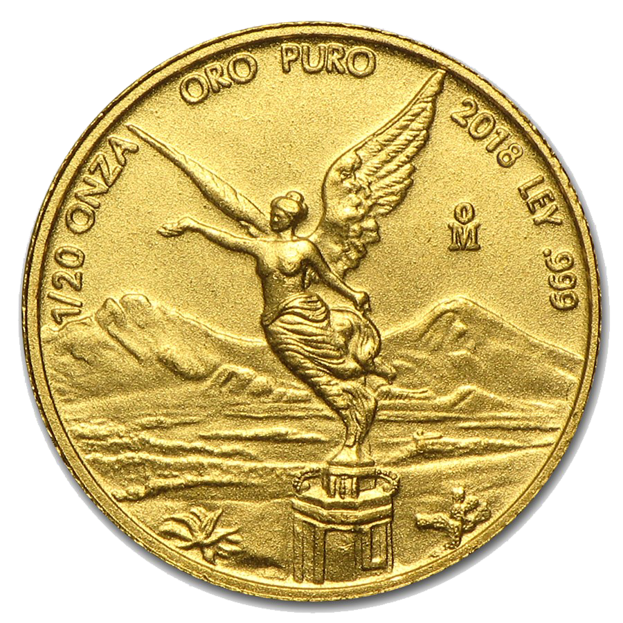Pre-Owned Mexican Libertad 1/20oz Gold Coin - Mixed Dates