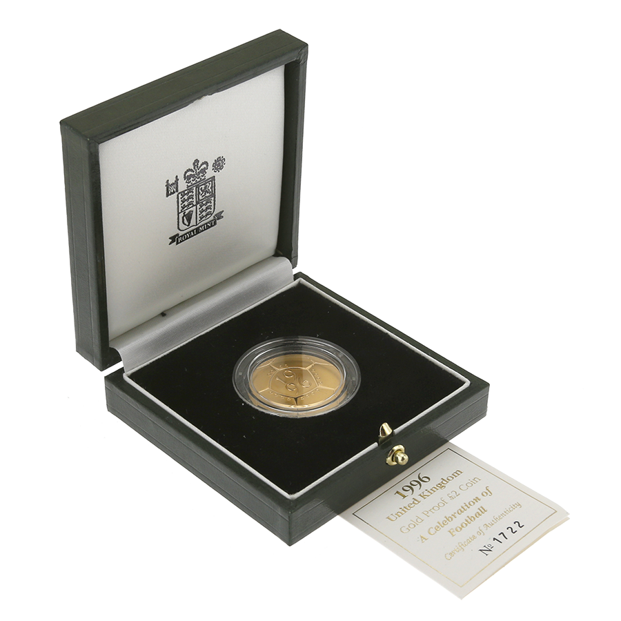 Pre-Owned 1996 UK 'A Celebration of Football' £2 Gold Proof Coin