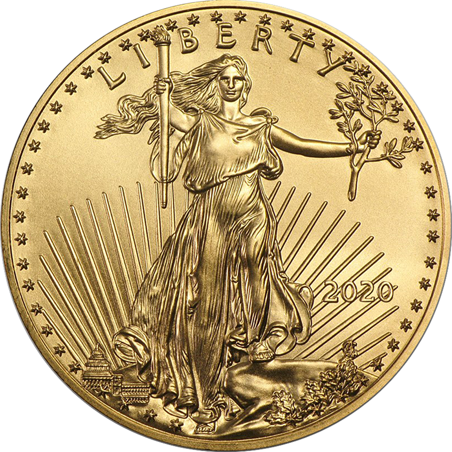 2020 USA Eagle 1/4oz Gold Coin (Image 1)