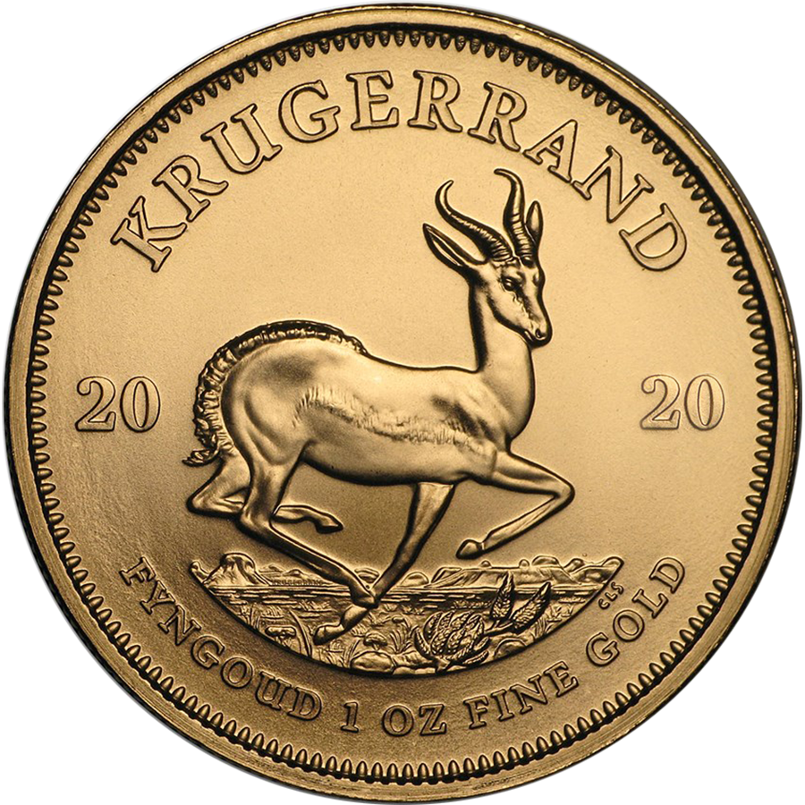 2020 South African Krugerrand 1oz Gold Coin