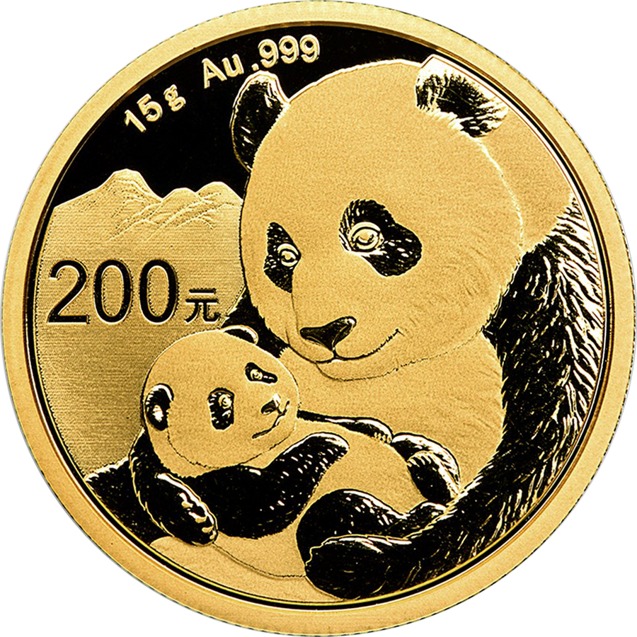 Pre-Owned 2019 Chinese Panda 15g Gold Coin
