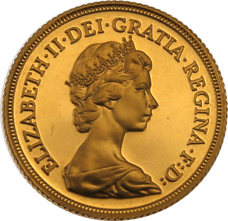Pre-Owned 1980 UK Full Sovereign Proof Gold Coin (Image 2)