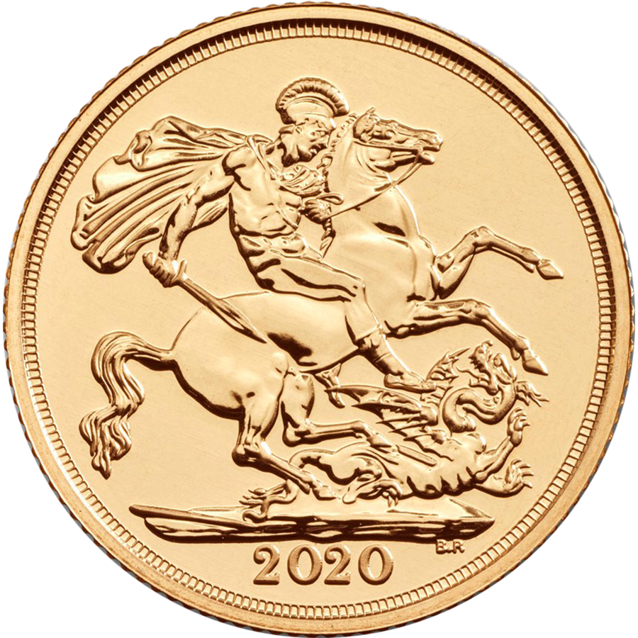 2020 UK Double Sovereign Gold Coin (Image 1)