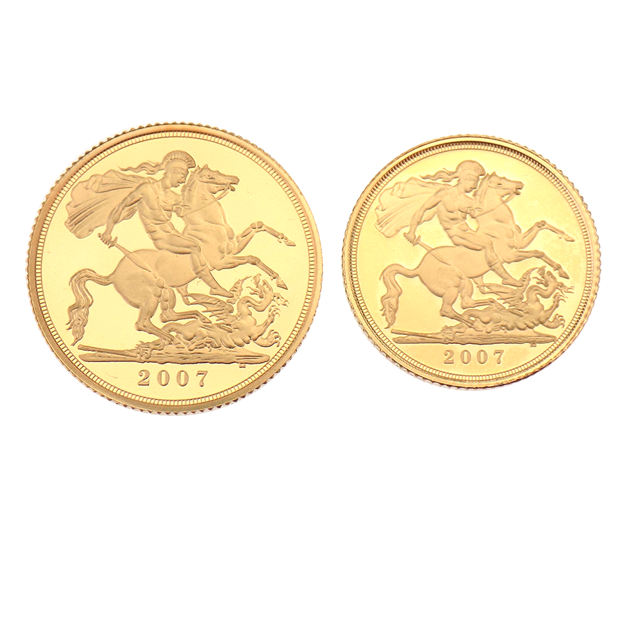Pre-Owned 2007 UK Full And Half Proof Gold Sovereign Set (Image 2)