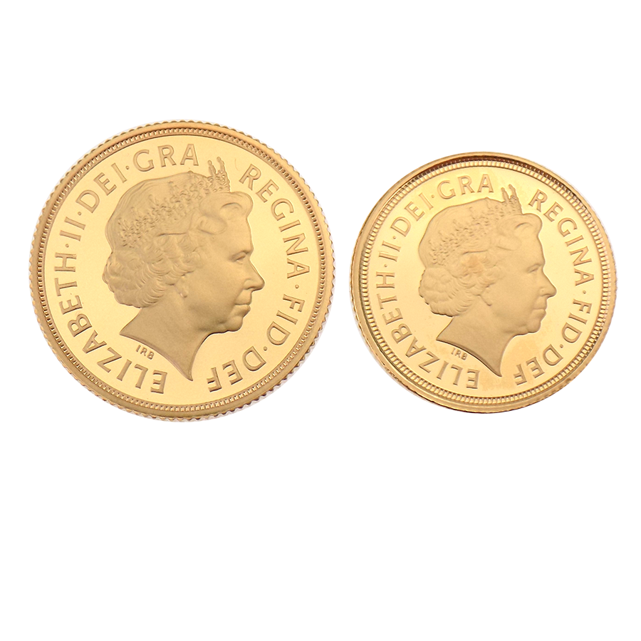 Pre-Owned 2007 UK Full And Half Proof Gold Sovereign Set (Image 3)