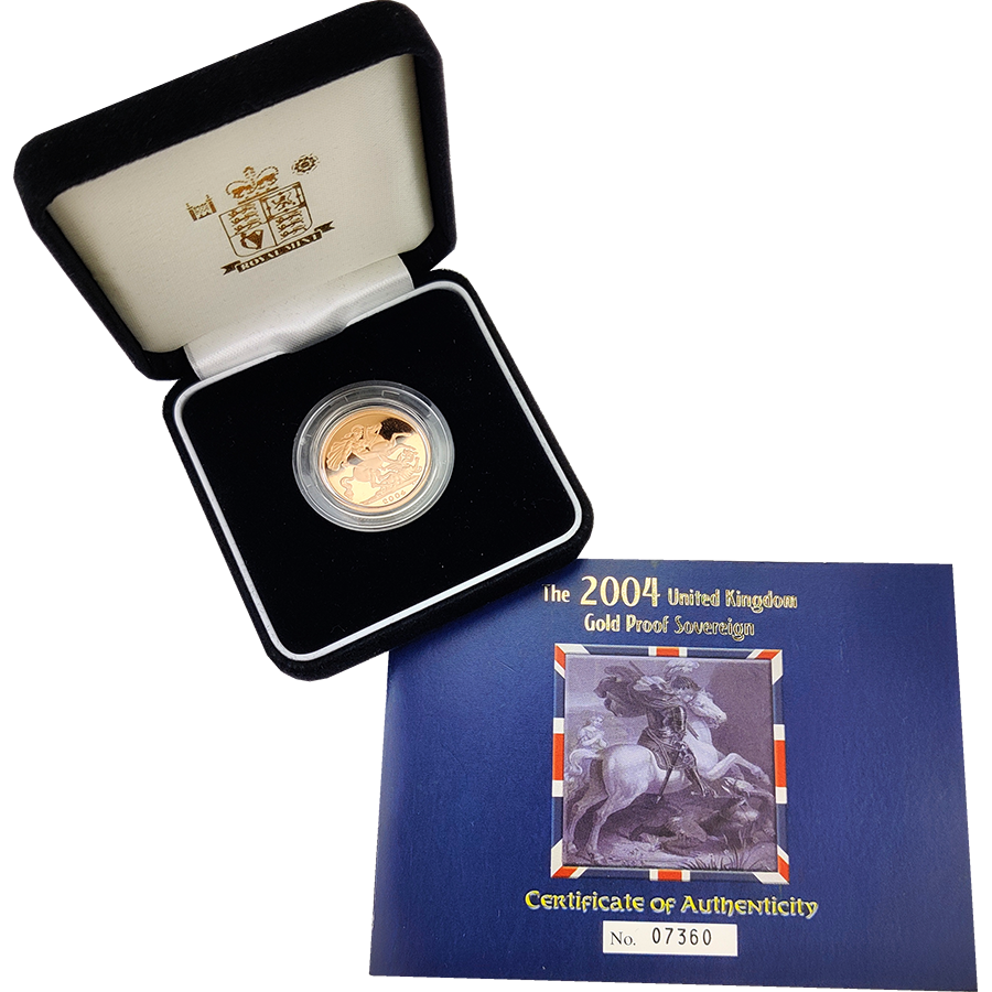 Pre-Owned 2004 UK Full Sovereign Gold Proof Coin