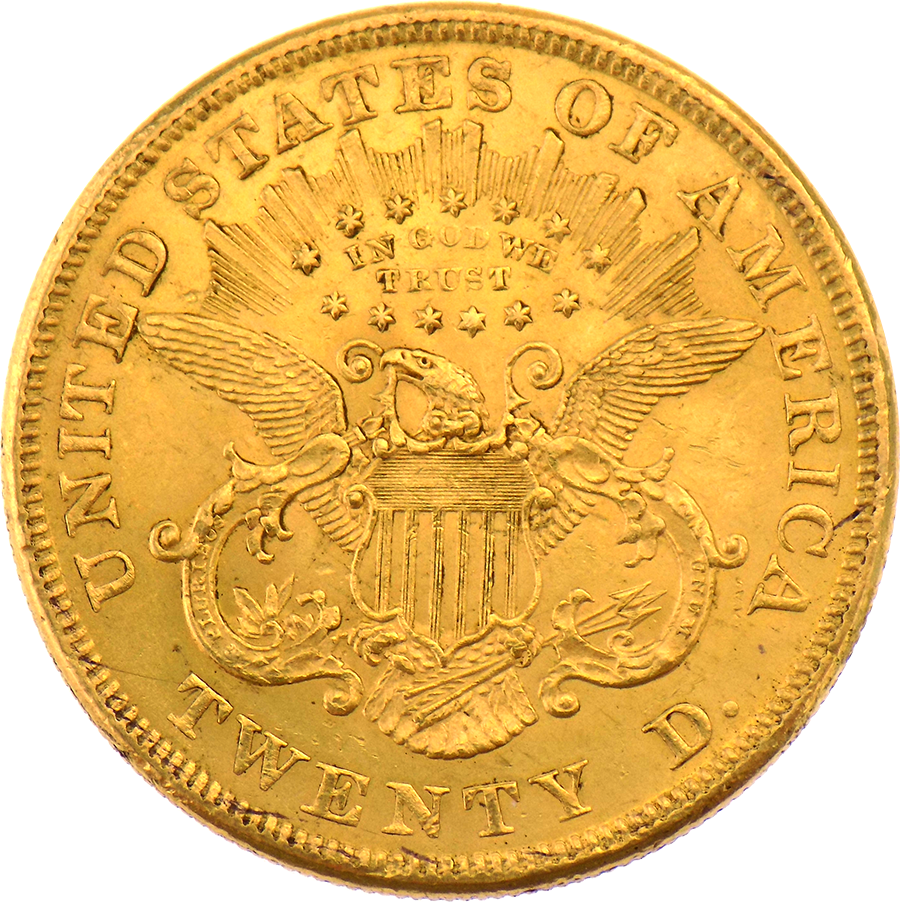 Pre-Owned 1873 USA $20 Double Eagle Gold Coin
