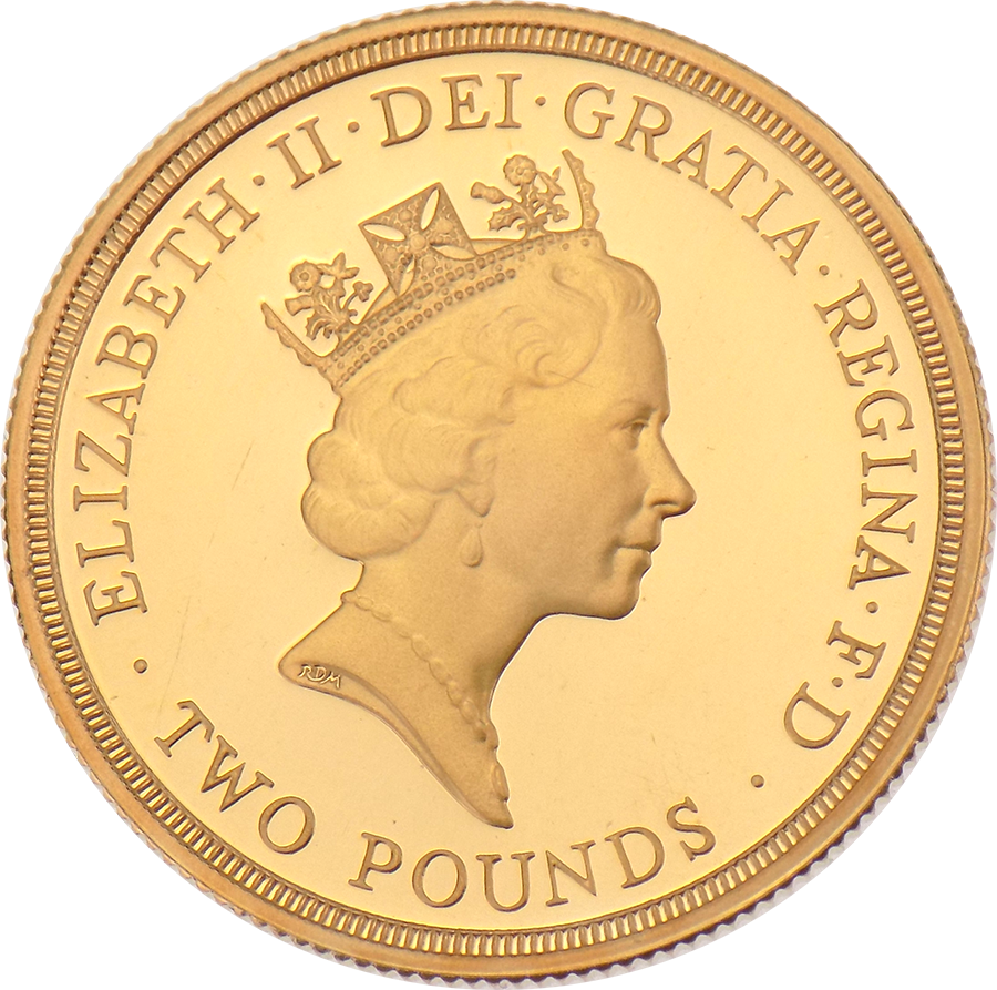 Pre-Owned 1945 - 1995 50th Anniversary of the United Nations Proof £2 Gold Coin (Image 3)